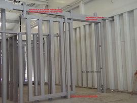 Hydraulic Slide door in the open position