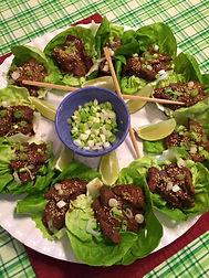 Asian Venison Lettuce Cups
