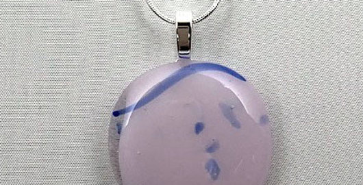 Pink and Blue Glass Pendant