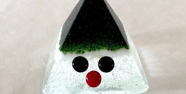 Dark Green and White Tomte
