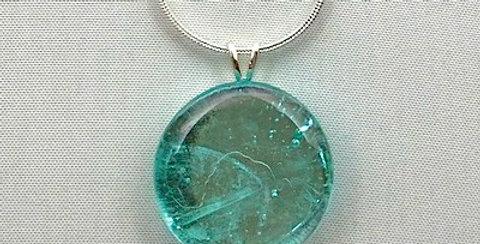 Pale Lagoon Crystal Pendant