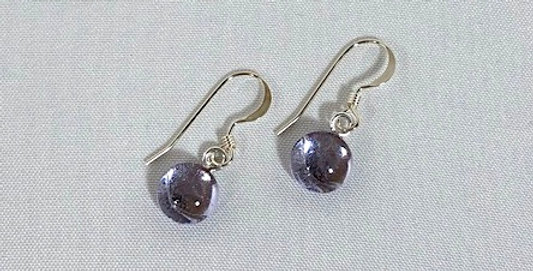 Purple Crystal Pierced Earrings