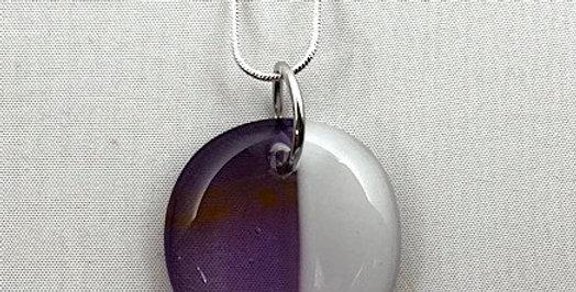 Gold, Purple and White Glass Pendant