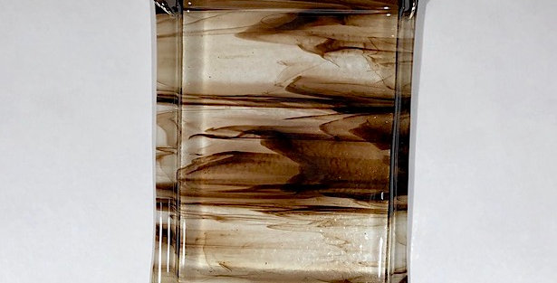 Chocolate Brown on Clear Glass Wall Vase