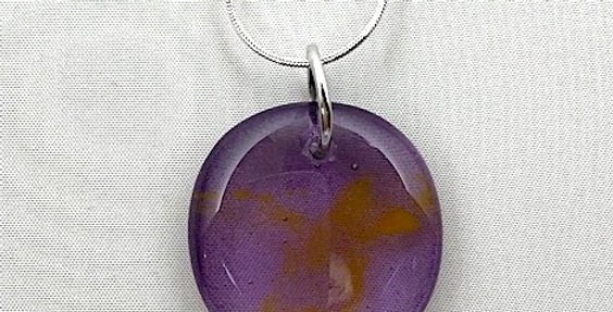 Gold and Purple Glass Pendant