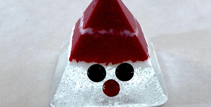 Red Tomte with White Stripe