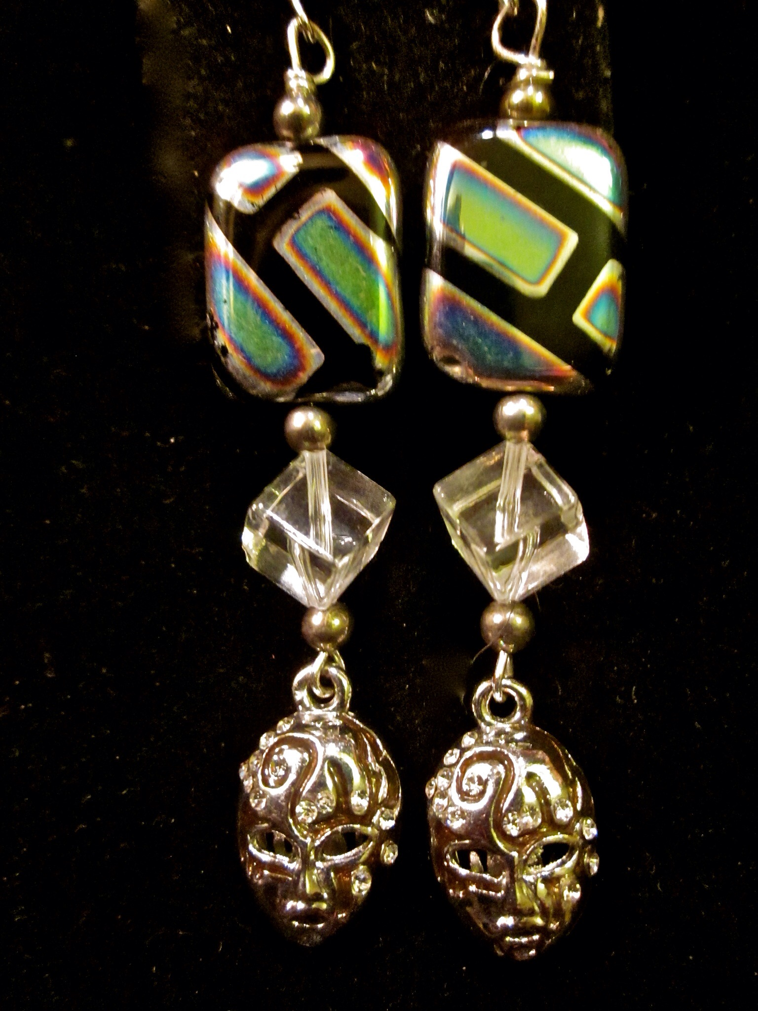 Mask earrings from Venice