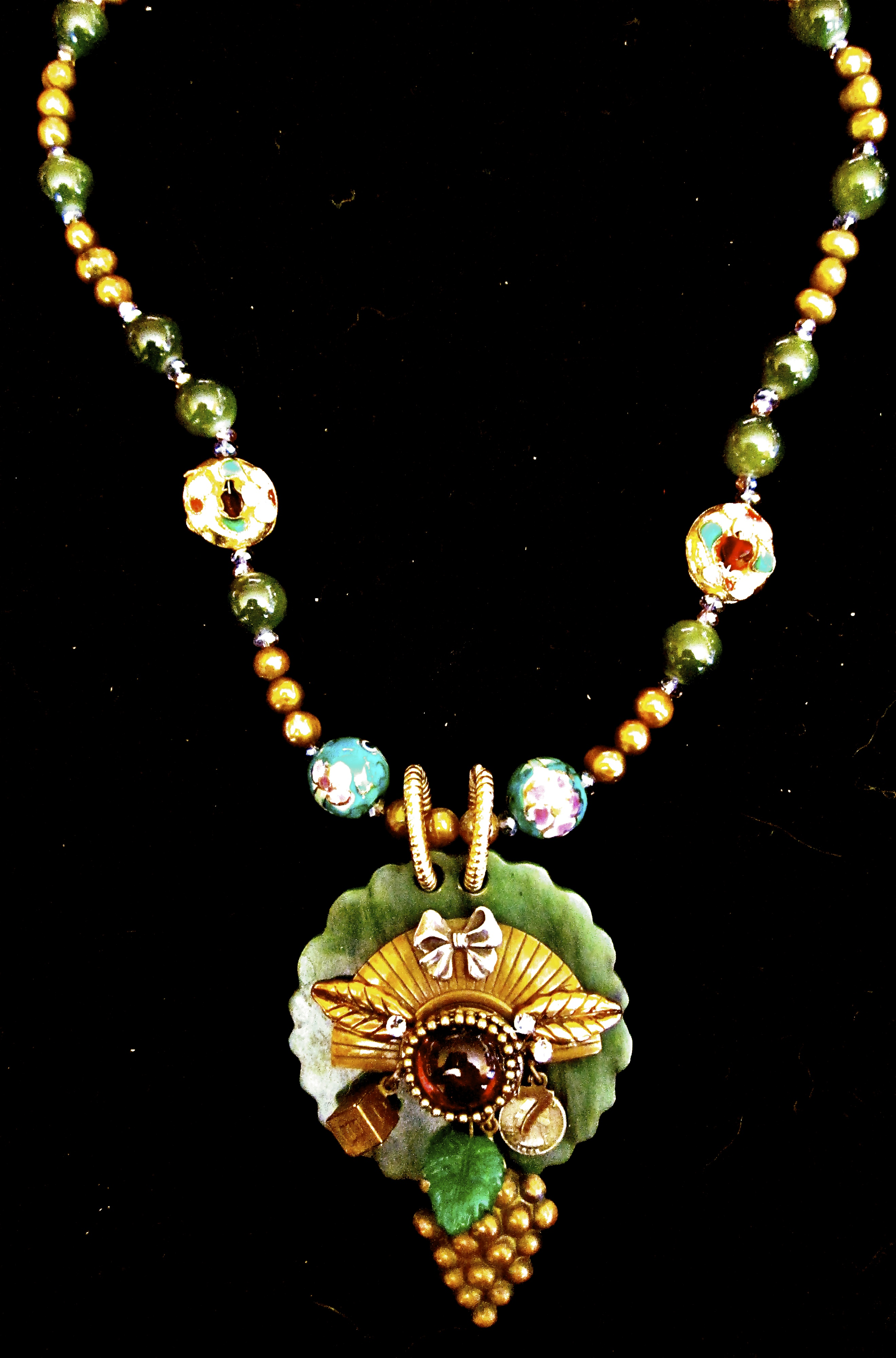 BK's insignia Necklace/assemblage