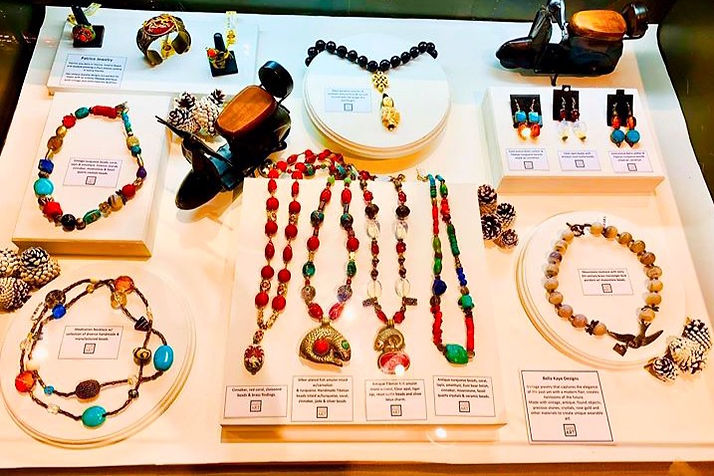 My featured showcased jewelry at the San