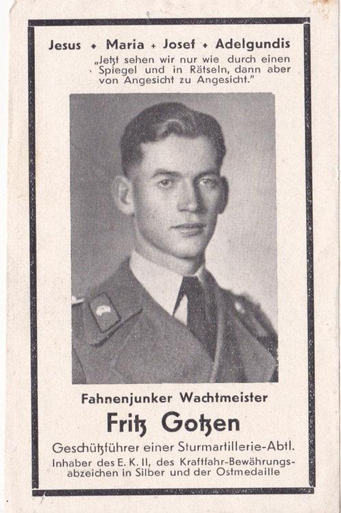 Sturmgeschütz KIA death card