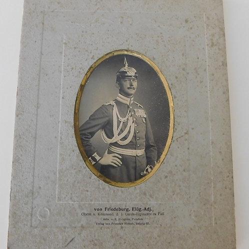 Large cardboard Portrait of Friedrich von Friedeburg 1. Garde Regiment