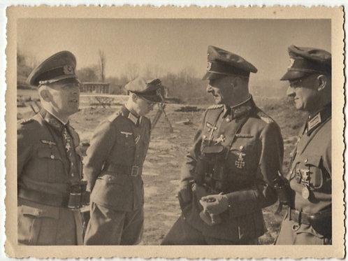 Private Picture Generalleutnant and Ritterkreuzträger Curt Badinski