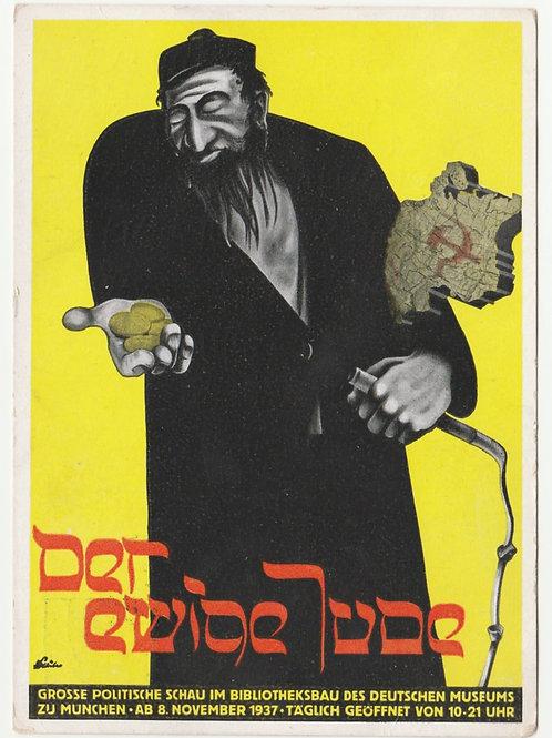 Postkarte der ewige Jude mit Sonderstempel München