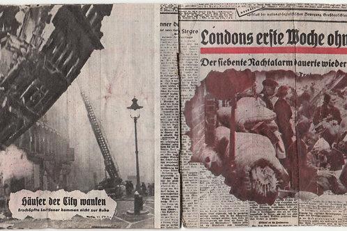 Allied  Propaganda Leaflet/Flugblatt  Luftwaffe Bombings in Western Europe