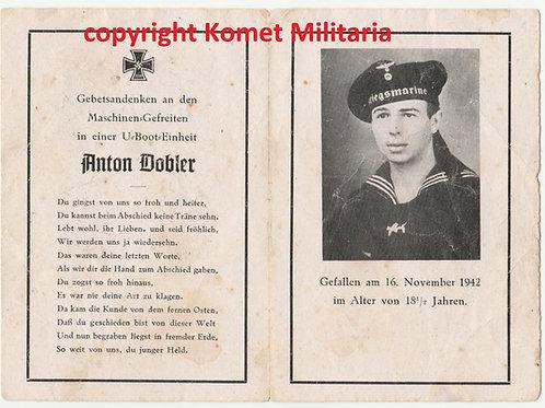 sterbebild-death card Uboot Maschinen-Gefreiter U259