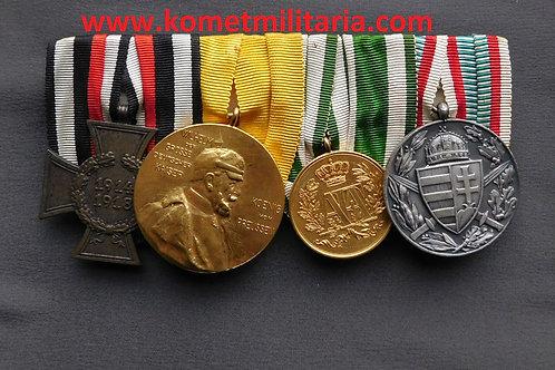4 place Imperial Medal Bar/Ordensspange Sachsen