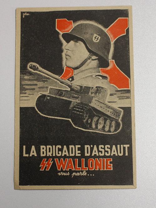 SS Wallonie Recruitement Postcard