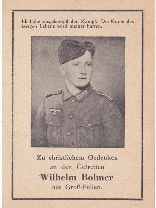Gefreiter kia Escoville (Caen) 1944 death card