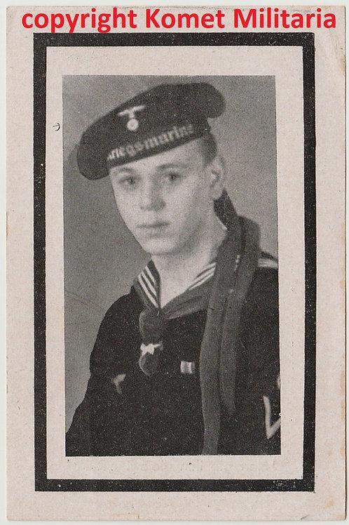 Sterbebild-death card U-Boot (U211), Maschinen-Maat  1943