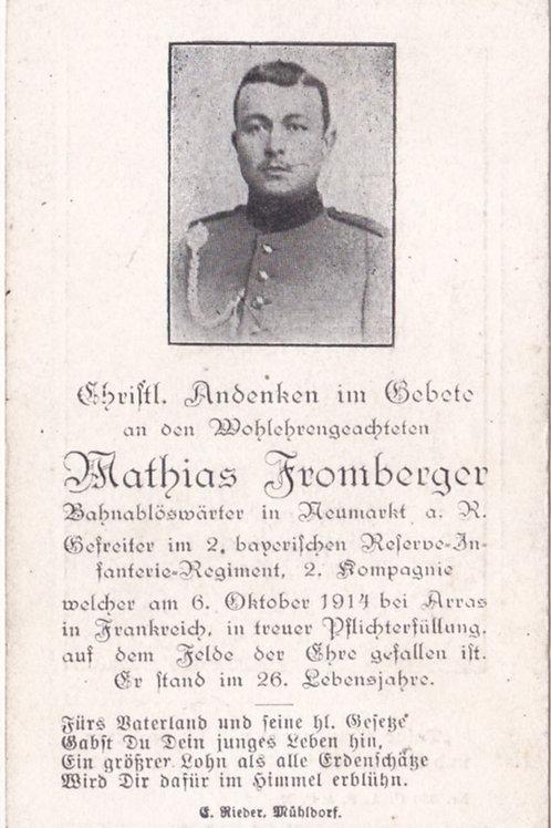 sterbebild/ death card kia 1914 Arras