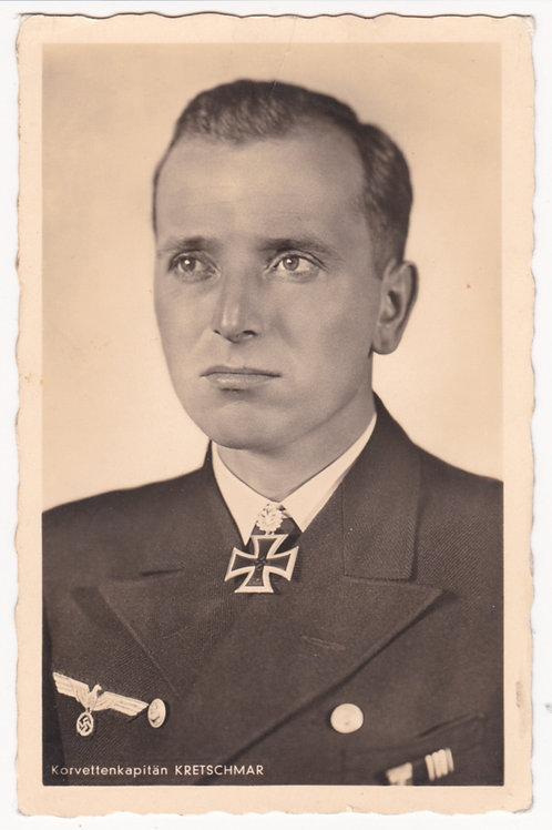 Postcard Korvettenkapitän Otto Kretschmar