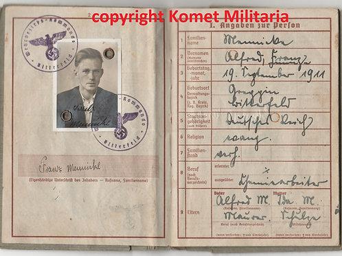 Wehrpass Franz Mennicke Bewährungs-Bataillon 500+ Marine Bewährungseinheit