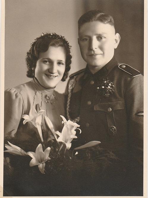 2x Foto SS Soldier- Hochzeit+ Allgemeine SS