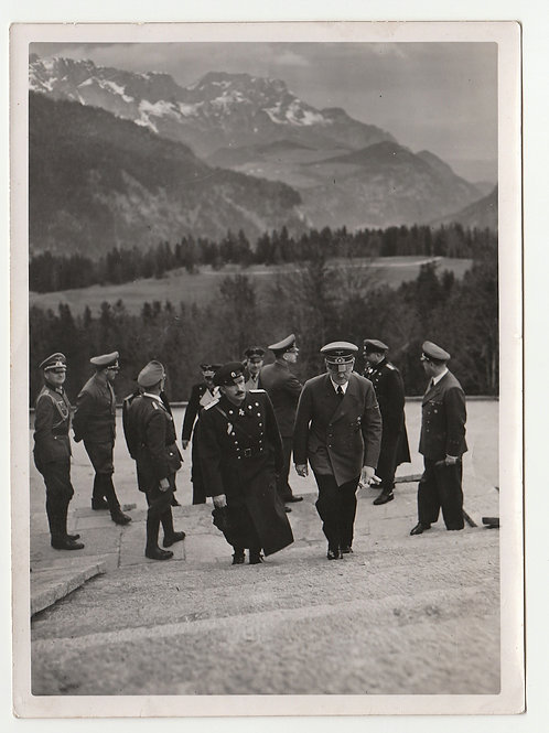 Hoffmann Press Picture Adolf Hitler with King Boris of Bulgariar at the Berghof