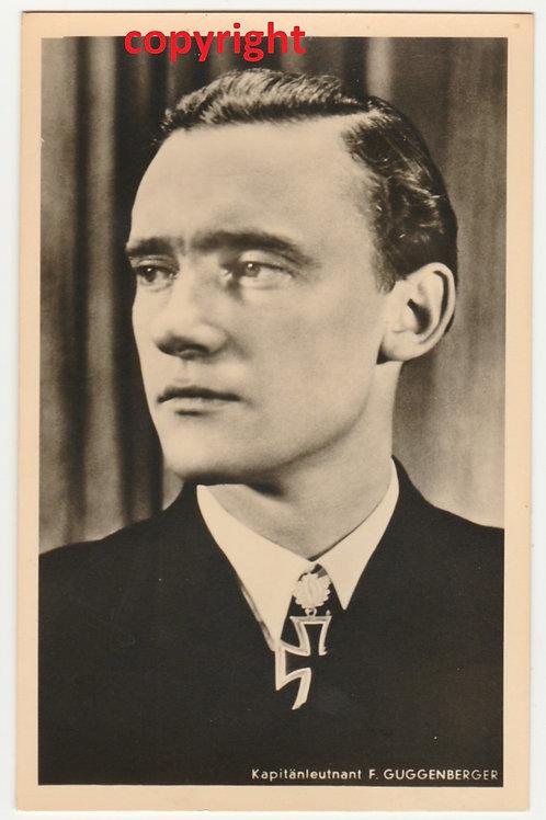 Postcard/Postkarte Kapitänleutnant Uboot Guggenberger Hoffmann