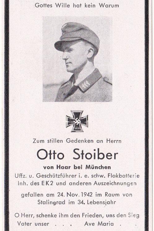 sterbebild-death card schw. Flak KIA Stalingrad 1942