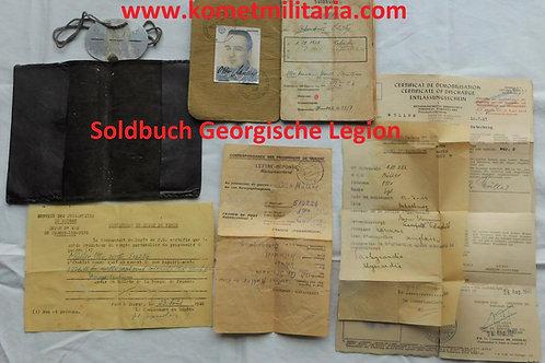 Soldbuch Georgische Legion+ Erkennungsmarke France 1944