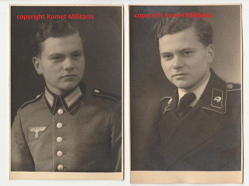 2x Portrait Picture Panzermann