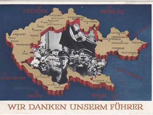 Propaganda Postcard- Wir danken unserm Führer