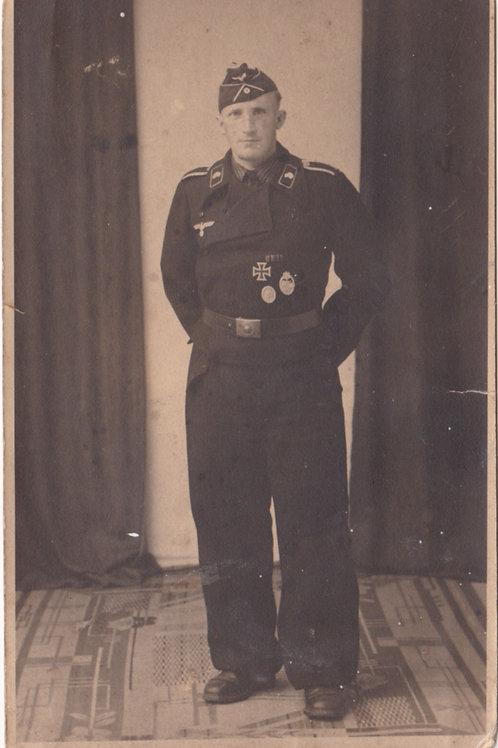 Portrait picture decorated Panzer NCO
