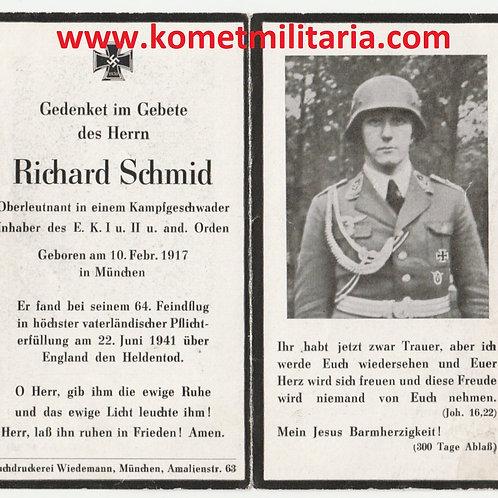 sterbebild-death card KG26 Oberleutnant, England 1941