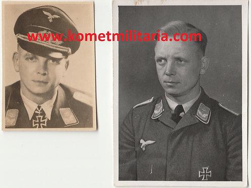 2x Picture Ritterkreuzträger Rudolf Toschka Sturmregiment