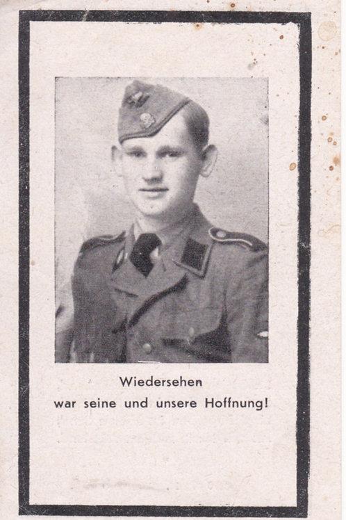 sterbebild-death card SS Panzergrenadier KIA 1944