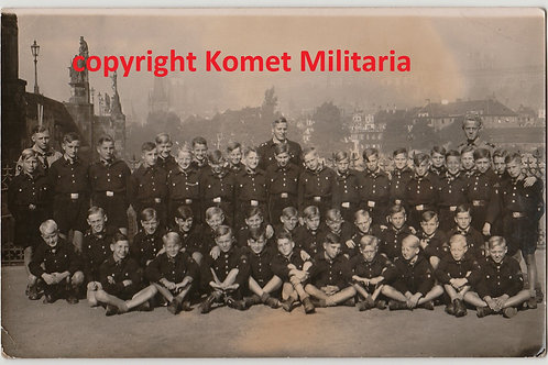 Postcard sized Gruppenfoto Hitlerjugend