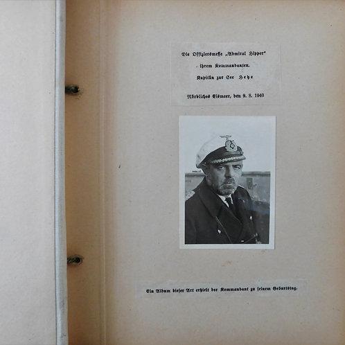 Kriegsmarine Fotoalbum die Offiziersmesse Admiral Hipper- Nördliches Eismeer