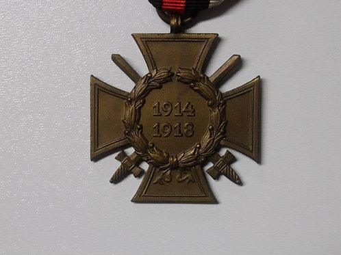 Ehrenkreuz für Frontkämpfer mit Urkunde- WWI