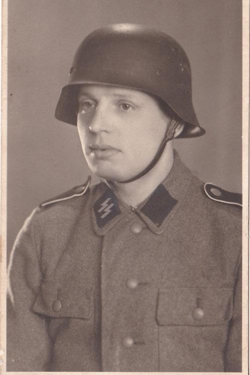 SS Portrait with steel helmet in wear