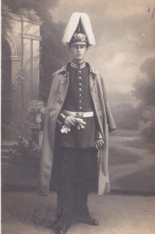 WWI Postcard Portrait 3.Garde Infanterie Regiment zu Fuss