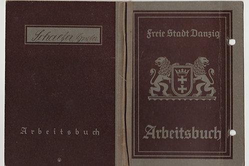 Arbeitsbuch Freie Stadt Danzig to a female