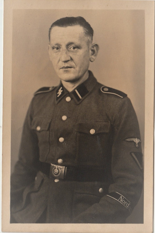 "SS Portrait Sturmmann with""Nordland"" cuff title in wear"