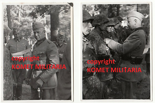 2x pictures EK2 Ceremony Waffen SS with Walter von Reichenau