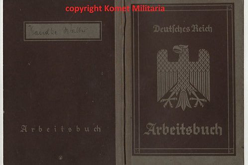 Arbeitsbuch first pattern male Düsseldorf 1935