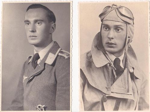 Small grouping of 4 portraits pilot Joachim Wank (Jagdgruppe Ost)