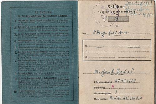 Soldbuch Fallschirmjäger  POW Brest, 3./FSJ Btl. 2