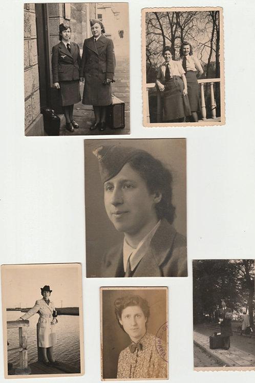 small female picture grouping Luftwaffe Helferin, 1x Arnhem studio stamped