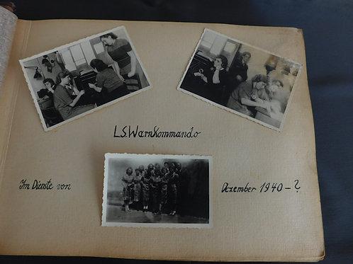Fotoalbum Luftschutz Warnkommando Helferinnen